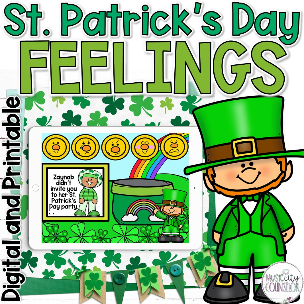 st. patrick's day, feelings, emotions, counseling, SEL