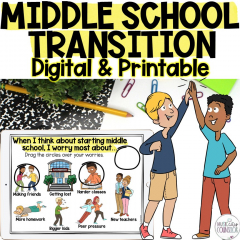 middle school transition, transition to middle school, lesson