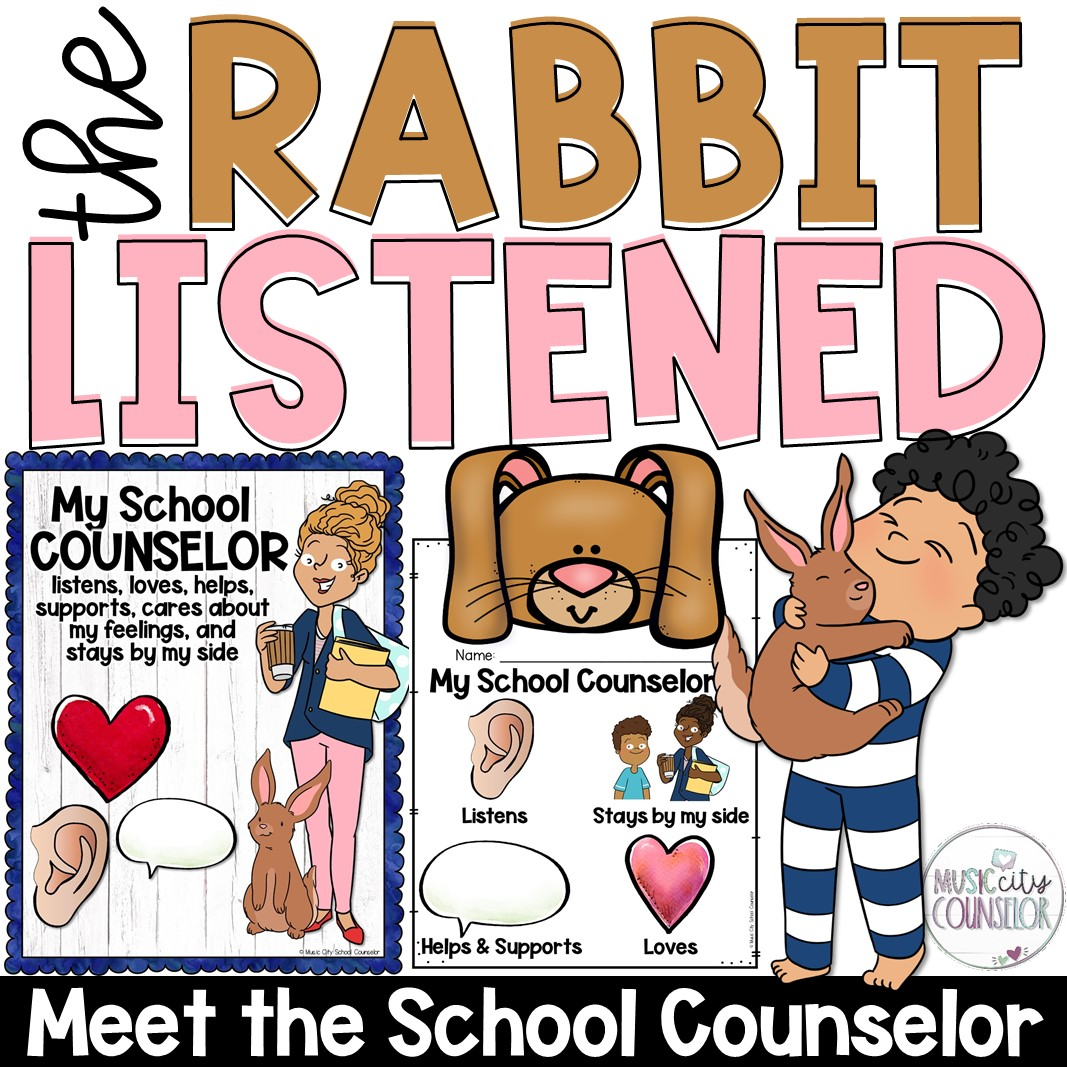 the rabbit listened meet the school counselor